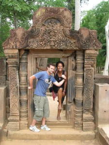 Rob and I in Banteay Srei