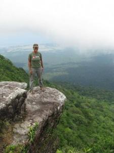 Standing overlooking Kampot Province
