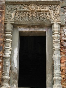 Doorway in the Rolous temples