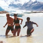 Si, Lucy and I at the glacier